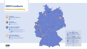 Landkarte Hebammenausbildung