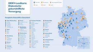 Landkarte Geburtshilfliche Versorgung