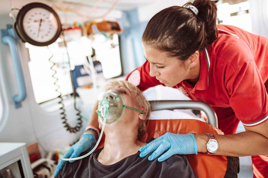 Älterer Notfallpatient