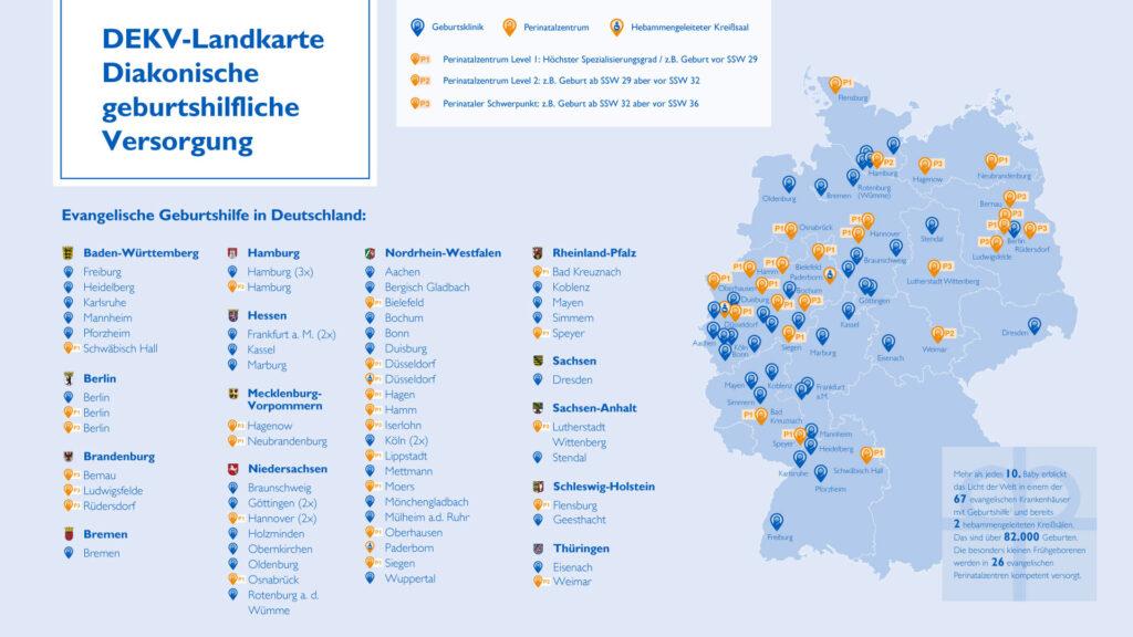 DEKV-Landkarte Geburtshilfliche Versorgung
